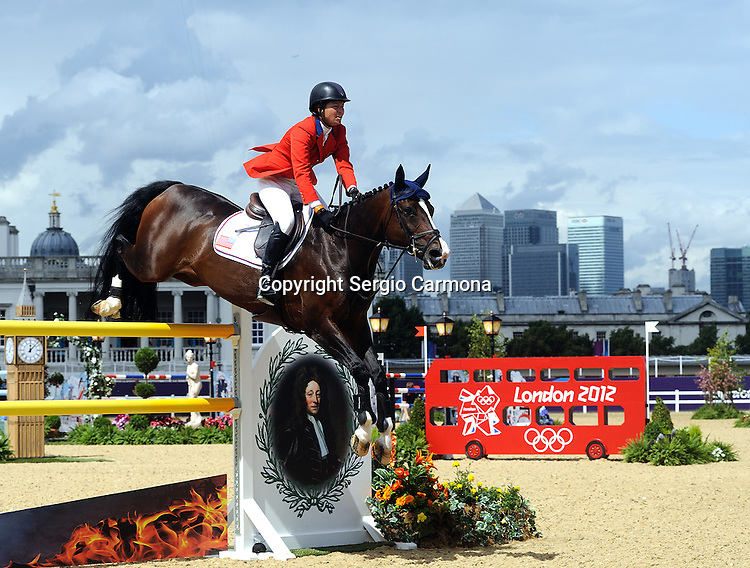 Olympic Games 2012; Equestrian - Venue: Greenwich Park. Beezie Madden (USA).Horse: Via Volo.