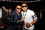 MIAMI, FL - JULY 10:Gente de Zona attend Iron Mike Judgement Day boxing match at AmericanAirlines Arena on July 10, 2014 in Miami, Florida.  (Photo by Johnny Louis/jlnphotography.com)