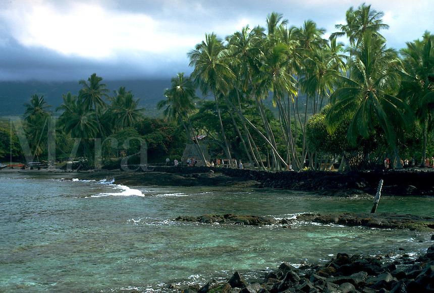 City of Refuge. Hawaii United States Big Island of Hawaii.