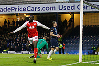GOAL - New signing Toumani Diagouraga of Fleetwood Town celebrates his goal during the Sky Bet League 1 match between Southend United and Fleetwood Town at Roots Hall, Southend, England on 13 January 2018. Photo by Carlton Myrie.