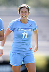 09 September 2012: San Diego's Sierra Ferreira. The University of North Carolina Tar Heels defeated the University of San Diego Toreros 5-0 at Koskinen Stadium in Durham, North Carolina in a 2012 NCAA Division I Women's Soccer game.