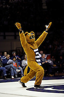 STATE COLLEGE, PA -DECEMBER 19: The Penn State Nittany Lion mascot during a match against the Virginia Tech Hokies on December 19, 2014 at Recreation Hall on the campus of Penn State University in State College, Pennsylvania. Penn State won 20-15. (Photo by Hunter Martin/Getty Images) *** Local Caption ***