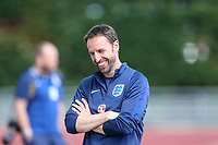 Gareth Southgate, England Manager seems in a relaxed mood during an open England football team training session at Stade Omnisport, Croissy sur Seine, France  on 12 June 2017 ahead of England's friendly International game against France on 13 June 2017. Photo by David Horn/PRiME Media Images.