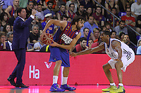 16.06.2013 Barcelona, Spain. Liga Endesa . Playoff game 4 Picture show Victor Sada in action during game between FC Barcelona against Real Madrid at Palau Blaugrana