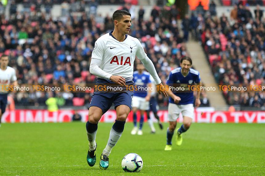 Erik Lamela of Tottenham Hotspur during Tottenham Hotspur vs Cardiff City, Premier League Football at Wembley Stadium on 6th October 2018
