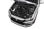 Car Stock 2017 Mitsubishi Outlander-Sport ES-AWC 5 Door SUV Engine  high angle detail view