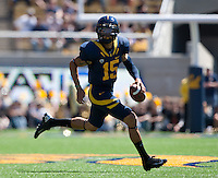 September 8, 2012: California's Zach Maynard runs around to look for his open receivers during a game against Southern Utah at Memorial Stadium, Berkeley, Ca