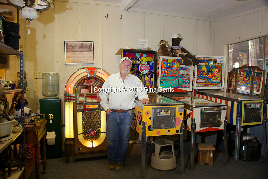 Don Zeigler in his antique shop, Fern Valley Emporium