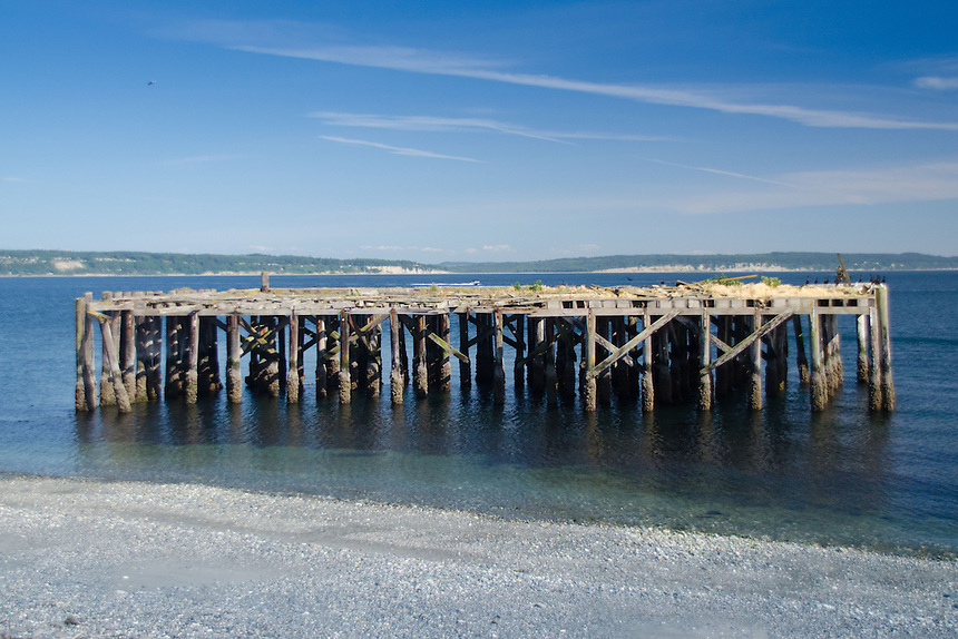Abandoned Pier, Fort Casey State Park, Whidbey Island, Washington, US