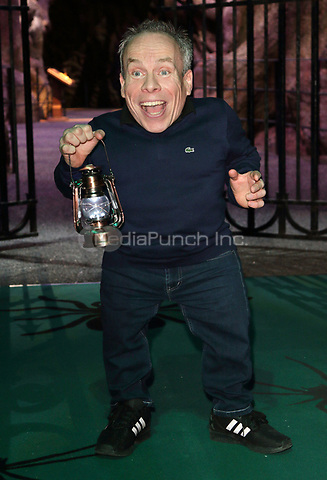 Warwick Davis at the Warner Bros. Studios Forbidden Forest Tour - launch at Warner Brothers Studios, Studio Tour Drive, Leavesden, Hertfordshire on Tuesday March 28th 2017<br /> CAP/JIL<br /> Jill Mayhew/Capital Pictures /MediaPunch ***NORTH AND SOUTH AMERICAS ONLY***