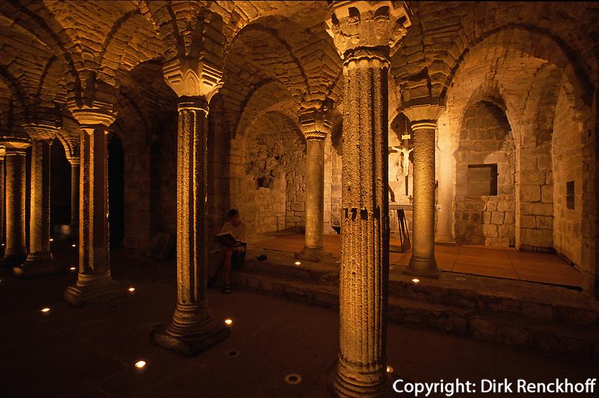 Italien, Toskana, Abbadia San Salvatore, langobardische Krypta der Abtei 8.Jh.