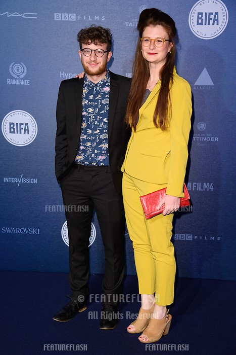 Jonathan Schey &amp; Jodie Brown at the British Independent Film Awards 2017 at Old Billingsgate, London, UK. <br /> 10 December  2017<br /> Picture: Steve Vas/Featureflash/SilverHub 0208 004 5359 sales@silverhubmedia.com