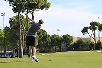 Thomas Pieters (BEL) during Wednesday's Pro-Am of the 2018 Turkish Airlines Open hosted by Regnum Carya Golf &amp; Spa Resort, Antalya, Turkey. 31st October 2018.<br /> Picture: Eoin Clarke | Golffile<br /> <br /> <br /> All photos usage must carry mandatory copyright credit (&copy; Golffile | Eoin Clarke)