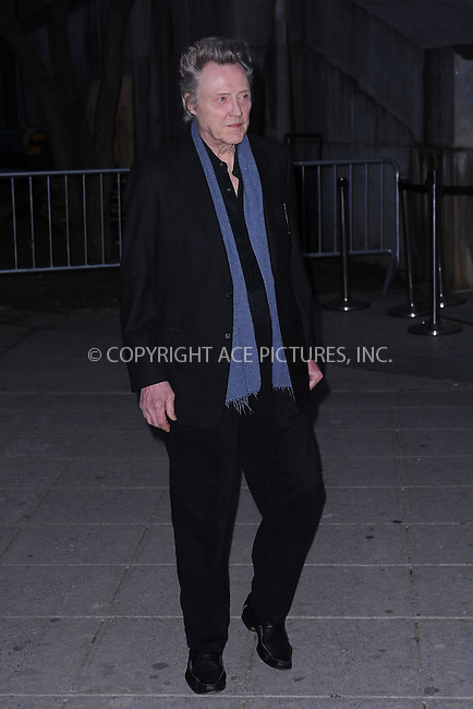 WWW.ACEPIXS.COM . . . . . .April 16, 2013...New York City....Christopher Walken attends the Vanity Fair Party 2013 Tribeca Film Festival Opening Night Party held at the New York State Supreme Courthouse onon April 16, 2013 in New York City ....Please byline: KRISTIN CALLAHAN - ACEPIXS.COM.. . . . . . ..Ace Pictures, Inc: ..tel: (212) 243 8787 or (646) 769 0430..e-mail: info@acepixs.com..web: http://www.acepixs.com .