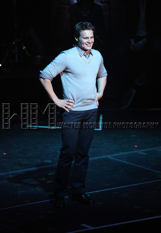 Jonathan Groff.performing in 'MISCAST 2012' MCC Theatre's Annual Musical Spectacular at The Hammerstein Ballroom in New York City on 3/26/2012.
