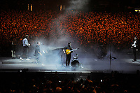 LONDON, ENGLAND - NOVEMBER 29: Marcus Mumford of 'Mumford &amp; Sons' performing at the O2 Arena on November 29, 2018 in London, England.<br /> CAP/MAR<br /> &copy;MAR/Capital Pictures