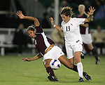 7 November 2007: Boston College's Chelsea Regan (2) goes down from the challenge of Florida State's Amanda DaCosta (13). Florida State University defeated Boston College 1-0 at the Disney Wide World of Sports complex in Orlando, FL in an Atlantic Coast Conference tournament quarterfinal match.