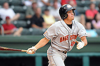 July 21, 2008: Infielder Jose Lozada (27) of the Hagerstown Suns, Class A affiliate of the Washington Nationals, in a game against the Greenville Drive at Fluor Field at the West End in Greenville, S.C. Photo by:  Tom Priddy/Four Seam Images
