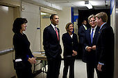 """Washington, DC - October 14, 2009 -- United States President Barack Obama talks with Vicki Kennedy, widow of U.S. Senator Edward M. """"Ted"""" Kennedy (Democrat of Massachusetts), and the Senator's children, from right, U.S. Representative Patrick Kennedy (Democrat of Rhode Island), Teddy Kennedy, Jr. and Kara Kennedy, prior to an event celebrating the Edward M. Kennedy Institute for the United States Senate at the Ritz-Carlton Hotel, in Washington, D.C., October 14, 2009. .Mandatory Credit: Pete Souza - White House via CNP"""