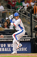 15 March 2009: #15 Yong Kyu Lee of Korea is seen at bat during the 2009 World Baseball Classic Pool 1 game 2 at Petco Park in San Diego, California, USA. Korea wins 8-2 over Mexico.