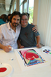 Thorsten Kaye and Frankie paint at the 11th Annual SoapFest - Painting Party to benefit Marco Island YMCA, theatre program & Art League of Marco Island on May 2, 2009 on Marco Island, FLA. (Photo by Sue Coflin/Max Photos)