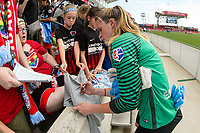 Bridgeview, IL - Saturday June 17, 2017: Fans, Alyssa Naeher during a regular season National Women's Soccer League (NWSL) match between the Chicago Red Stars and the Washington Spirit at Toyota Park. The match ended in a 1-1 tie.
