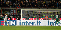 Calcio, Coppa Italia: semifinale di ritorno Inter vs Juventus. Milano, stadio San Siro, 2 marzo 2016. <br /> during the Italian Cup second leg semifinal football match between Inter and Juventus at Milan's San Siro stadium, 2 March 2016.<br /> UPDATE IMAGES PRESS/Isabella Bonotto
