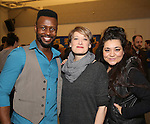Josh Breckenridge, Petrina Bromley and Susan Dunstan attends the press day for Broadway's 'Come From Away' at Manhattan Movement and Arts Center on February 7, 2017 in New York City.