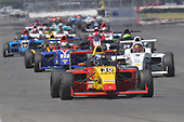 2017 F4 US Championship<br /> Rounds 4-5-6<br /> Indianapolis Motor Speedway, Speedway, IN, USA<br /> Saturday 10 June 2017<br /> # 30 Flinn Lazier head pack of cars down back straight<br /> World Copyright: Dan R. Boyd<br /> LAT Images