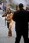 Peter Greenberg in Maori greeting ceremony in New Zealand