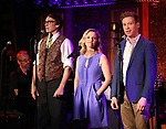 Rick Lyon, Anika Larsen and Barrett Foa during the 'Avenue Q' 15th Anniversary Reunion Concert at Feinstein's/54 Below on July 30, 2018 in New York City.