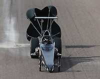 Feb 21, 2015; Chandler, AZ, USA; NHRA competition eliminator driver Tyler Hogan during qualifying for the Carquest Nationals at Wild Horse Pass Motorsports Park. Mandatory Credit: Mark J. Rebilas-