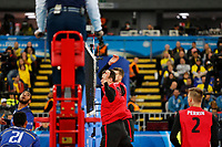 CURITIBA,PR, - 07.07.2017 – FRANÇA-CANADÁ -  Partida entre França (azul) e Canadá (vermelho), jogo válido pela liga mundial de vôlei no estádio Arena da Baixada, em Curitiba nesta sexta-feira (07).(Foto: Paulo Lisboa/Brazil Photo Press)