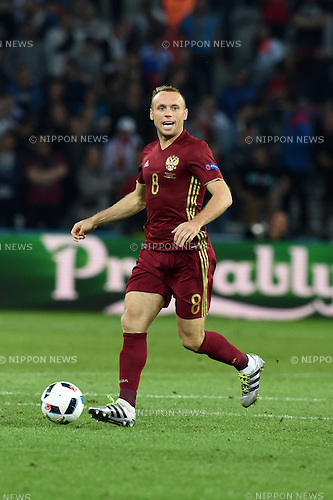 Denis Glushakov (Russia) ; <br /> June 15, 2016 - Football : Uefa Euro France 2016, Group B, Russia 1-2 Slovakia at Stade Pierre Mauroy, Lille Metropole, France.; ;(Photo by aicfoto/AFLO)