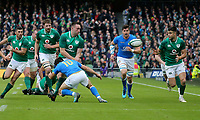 Saturday 10th February 2018 | Ireland vs Italy<br /> <br /> Jack Conan passes outside to put Conor Murray clear to score during the Six Nations Rugby Championship match between Ireland and Italy at the Aviva Stadium, Lansdowne Road,  Dublin Ireland. Photo by John Dickson / DICKSONDIGITAL