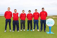The Ennis Team for the Munster Final of the AIG Junior Cup at Tralee Golf Club, Tralee, Co Kerry. 13/08/2017<br /> <br /> Alan Butler, Mark O'Neill (Captain), John Fitzpatrick, Matthew Whelan, Sean Myatt and Andrew Whelan.<br /> <br /> Picture: Golffile | Thos Caffrey<br /> <br /> All photo usage must carry mandatory copyright credit     (&copy; Golffile | Thos Caffrey)
