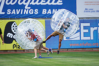 Erie SeaWolves on field promotion during a game against the Richmond Flying Squirrels on May 27, 2016 at Jerry Uht Park in Erie, Pennsylvania.  Richmond defeated Erie 7-6.  (Mike Janes/Four Seam Images)