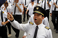 Avianca airline pilots and crew personnel protest in Colombia