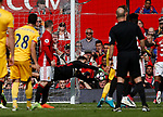 Joel Castro Pereira of Manchester United makes a save from a free kick during the English Premier League match at the Old Trafford Stadium, Manchester. Picture date: May 21st 2017. Pic credit should read: Simon Bellis/Sportimage