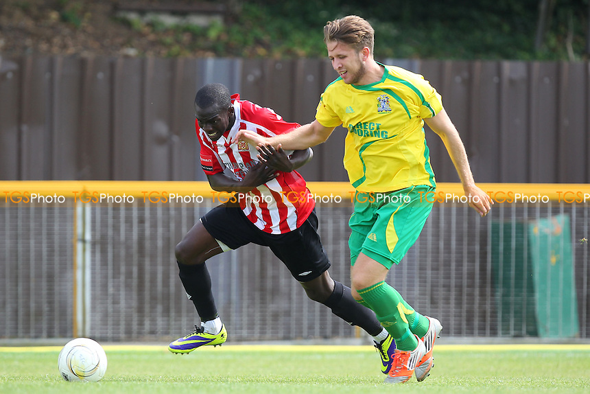 Junior Luke of Hornchurch in action - Thurrock vs AFC Hornchurch - Pre-Season Friendly Football Match at Ship Lane, Thurrock FC, Purfleet, Essex - 26/07/14 - MANDATORY CREDIT: Gavin Ellis/TGSPHOTO - Self billing applies where appropriate - contact@tgsphoto.co.uk - NO UNPAID USE