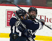 Ted Hart (Yale - 19), Mike Doherty (Yale - 24) - The Harvard University Crimson tied the visiting Yale University Bulldogs 1-1 on Saturday, January 21, 2017, at the Bright-Landry Hockey Center in Boston, Massachusetts.