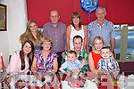 Colm Barry from Camp celebrating his 30th Birthday with family at Cassidys on Saturday. Pictured  Front left to right, Claire Culloty, Mary Ellen Barry, Colm Barry, Cillian Barry, Fionan Barry, Jennifer Barry.  Back left to right, Clodagh Culloty, Mike Culloty, Violet Culloty, Sean Barry