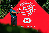 Jason Day (AUS) on the 9th tee during the final round at the WGC HSBC Champions 2018, Sheshan Golf CLub, Shanghai, China. 28/10/2018.<br /> Picture Fran Caffrey / Golffile.ie<br /> <br /> All photo usage must carry mandatory copyright credit (&copy; Golffile | Fran Caffrey)