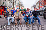 l-r  Cllr Sammy Locke, Cllr John Brassil, Mike McDonald, Cllr Grahame Spring, Backl-r  James Finnergan and John Drummey,President of Tralee Chamber Alliance. at the Office Chair Racing event <br />  in aid of St Vincent De Paul in the Mall Tralee on Saturday