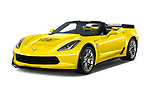 2018 Chevrolet Corvette Z06-3LZ 2 Door Convertible Angular Front stock photos of front three quarter view