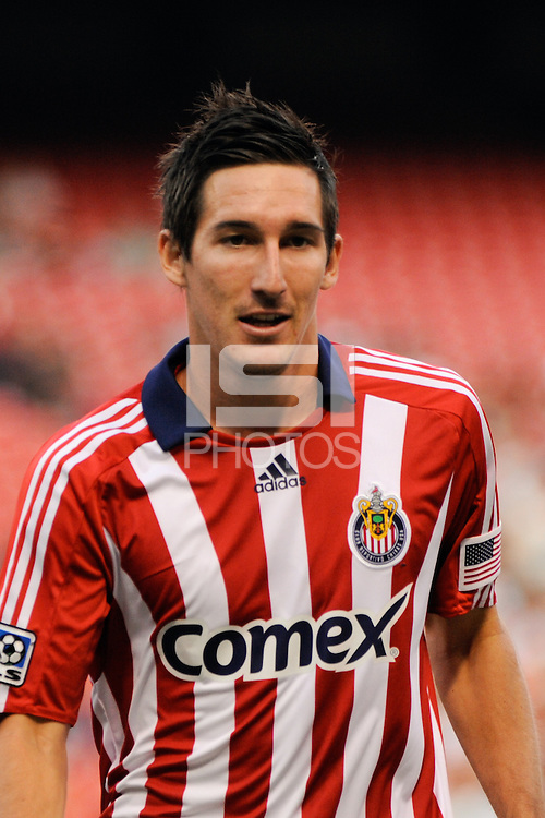 Sacha Kljestan (16) of Chivas USA. Chivas USA defeated the New York Red Bulls 2-0 during a Major League Soccer match at Giants Stadium in East Rutherford, NJ, on August 15, 2009.