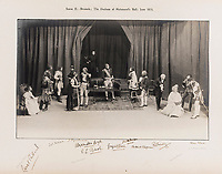 BNPS.co.uk (01202 558833)<br /> Pic: ForumAuctions/BNPS<br /> <br /> Pictured: The Duchess of Richmond's Ball from 'The Dynasts' in 1920.<br /> <br /> Charming previously unseen photos of a university's historic Thomas Hardy's production have come to light a century later.<br /> <br /> They show the performance of his play 'The Dynasts' by the Oxford Union Dramatic Society in 1920.<br /> <br /> It was the first time the prestigious society, which was founded in 1885, staged a play by a living author.<br /> <br /> The large ensemble cast can be seen in costume performing various scenes from Hardy's epic Napoleonic Wars drama which was published in three parts in 1904, 1905 and 1908.<br /> <br /> Hardy was a distant relative of Captain Thomas Hardy, who served with Admiral Nelson at the Battle of Trafalgar.