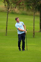 Matthew Grehan (Tullamore) on the 1st fairway during the Final round of the Irish Mixed Foursomes Leinster Final at Millicent Golf Club, Clane, Co. Kildare. 06/08/2017<br /> Picture: Golffile | Thos Caffrey<br /> <br /> <br /> All photo usage must carry mandatory copyright credit      (&copy; Golffile | Thos Caffrey)