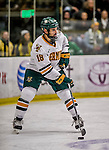 24 October 2015: University of Vermont Catamount Defenseman Alexx Privitera, a Senior from Old Tappan, NJ, in first period action against the University of North Dakota at Gutterson Fieldhouse in Burlington, Vermont. North Dakota defeated the Catamounts 5-2 in the second game of their weekend series. Mandatory Credit: Ed Wolfstein Photo *** RAW (NEF) Image File Available ***