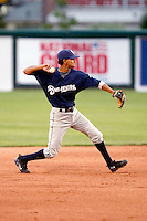 Carlos George - 2010 Helena Brewers - Playing against the Orem Owlz in Orem, UT - 07/26/2010.Photo by:  Bill Mitchell/Four Seam Images..